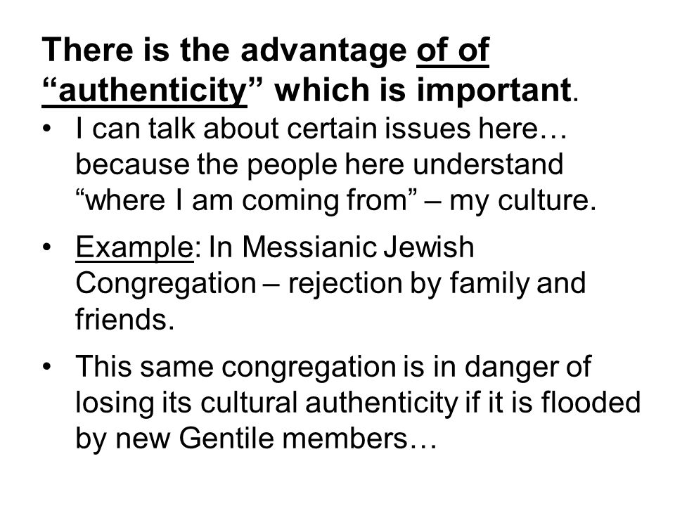 Guideline : Whereas every denomination should be encourage to have multicultural congregations, these congregations should not necessarily be regarded as the… norm or ideal.