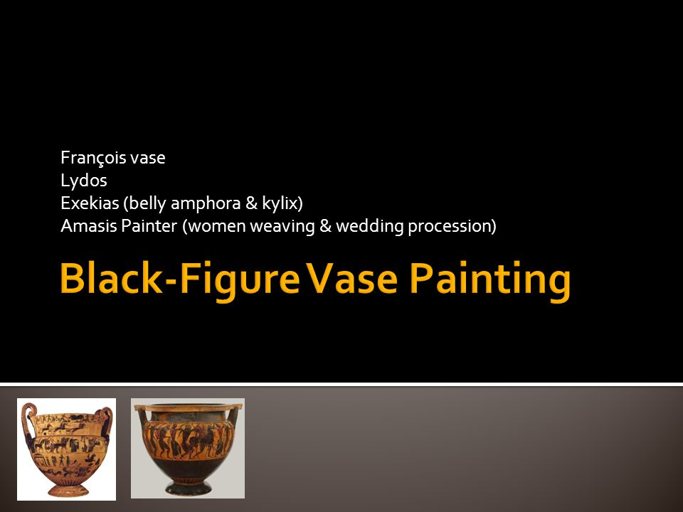  By the 7 th century BC, the discipline & order of the Corinthian Orientalising technique had overwhelmed the Proto-Attic style  After their initial experiments with black- figure the Athenian potters recognised the promise of the new style & they went on to dominate the art market with their expertise