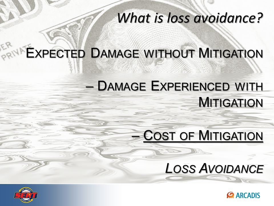 Benefits = (Hypothetical) Avoided Damage + Avoided Costs + Avoided Loss of Service