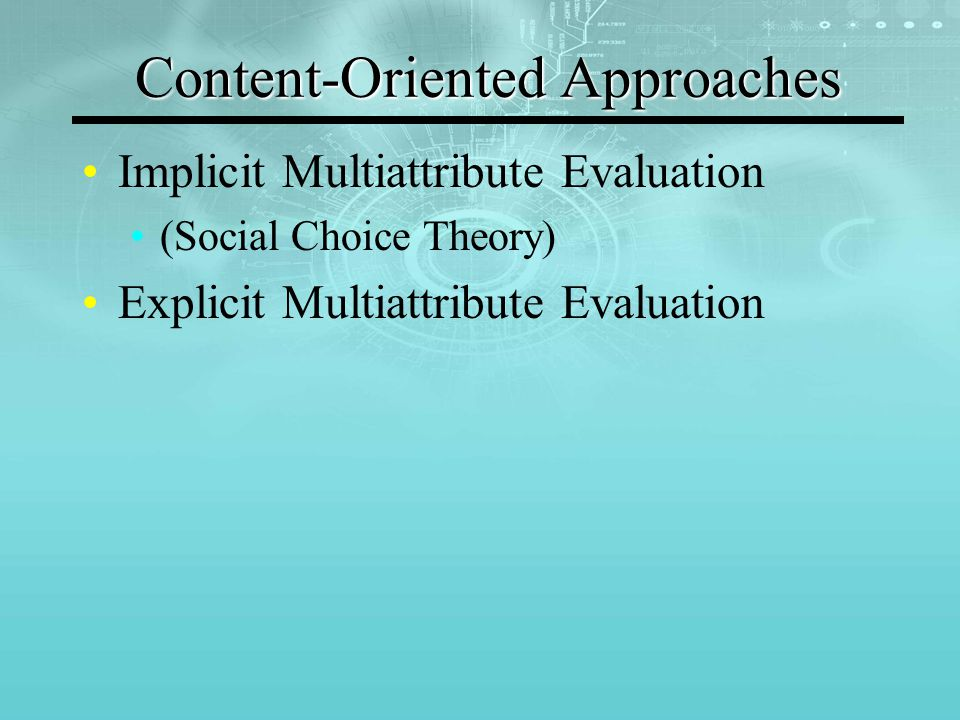 SOCIAL CHOICE THEORY Voting Social Choice Function