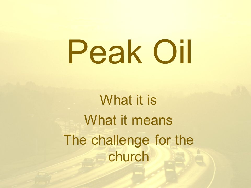 October 2006Let us be Human 2 Peak Oil Pharaoh's dream Seven fat barrels of oil Seven thin barrels of oil And the thin consumes the fat Can we appoint a Joseph.