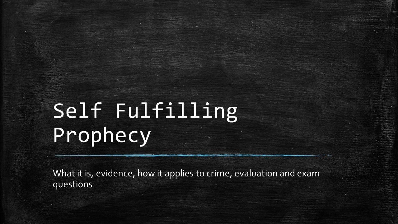 Self Fulfilling Prophecy ▪ We become what people expect us to become ▪ … and so a negative belief predicts a negative behaviour ▪ If a teacher thinks you will fail in an exam you probably will!