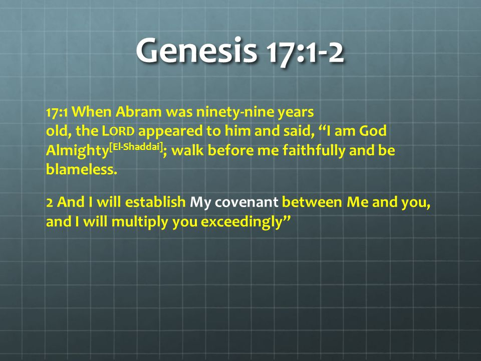 Genesis 17:3-5 3 Abram fell facedown, and God said to him, 4 As for me, this is my covenant with you: You will be the father of many nations.