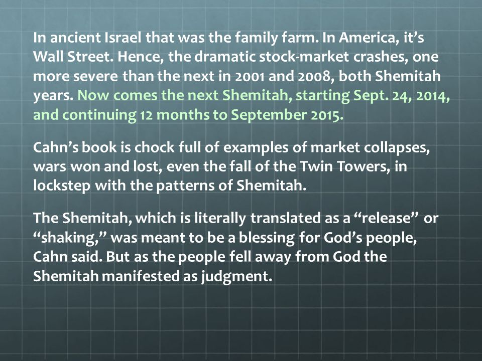 This mystery has been behind the collapsing of Wall Street for our entire lifetime, he told CBN News.