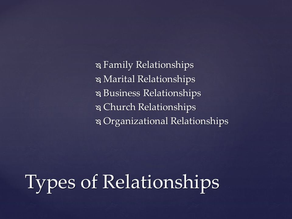  United States & Isreal  Barack & Michelle  The Lord & Enoch  Moses & Joshua  Paul & Silas  Christ & His Disciples Examples of Great Relationships