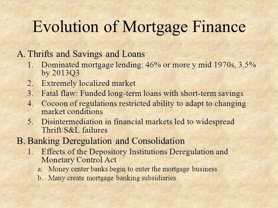 Evolution of Mortgage Finance