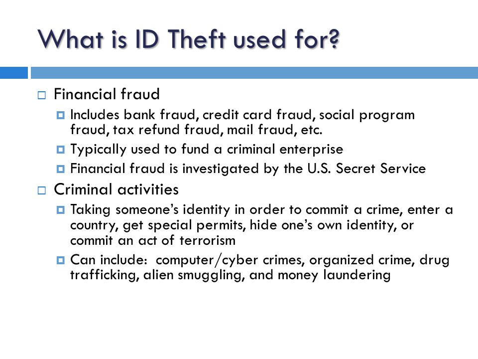 ID Theft victims get their life back  ID Theft Victim To Do List; take your life back in 7 steps (website: http://www.idhijack.com)http://www.idhijack.com  1) contact the credit bureaus; ask that they issue a fraud alert and attach a statement to your credit report, get copies from the 3 credit bureaus (TransUnion, Equifax, and Experian)  2) review your credit reports thoroughly; look for accounts you didn't apply for or open, inquiries you didn't initiate, or defaults and delinquencies you didn't cause  3) file a report with your local police or in the community where the ID theft took place; keep a copy of the police report