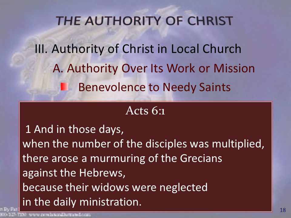 Benevolence to Needy Saints 19 Acts 11:27-30 27 And in these days came prophets from Jerusalem unto Antioch.
