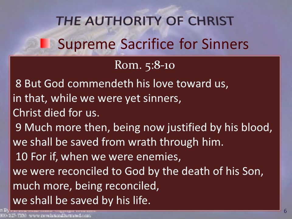 II.Authority of Christ as Savior A.