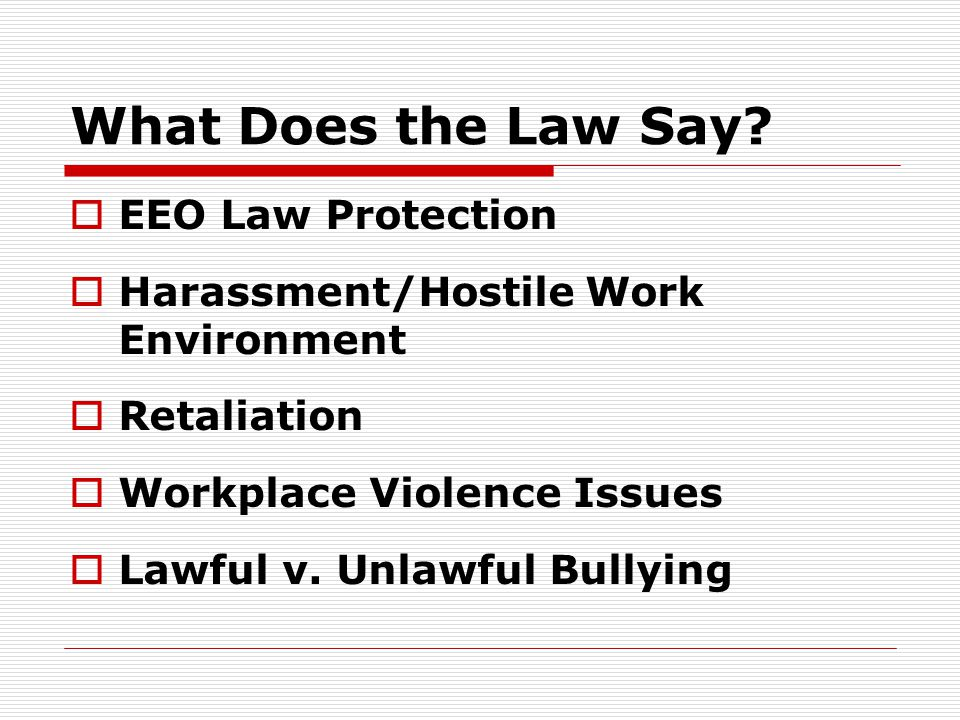 What's Covered by Federal EEO Law.