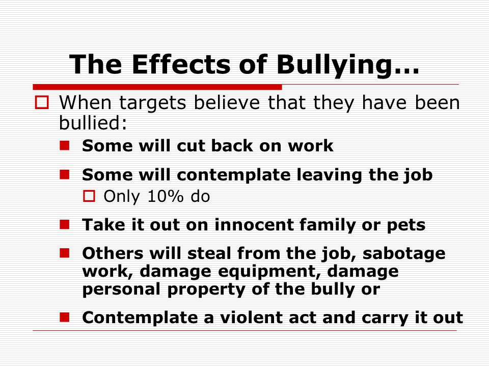 Bullying is on the Rise…  According to a recent study by the national Institute for Occupational Health and Safety (NIOSH) bullying in the workplace is on the rise.