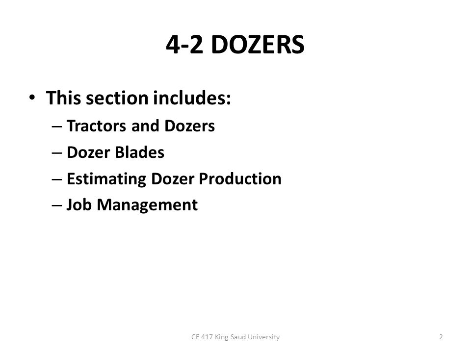Tractors and Dozers A tractor equipped with a front-mounted earthmoving blade is known as a dozer or bulldozer.