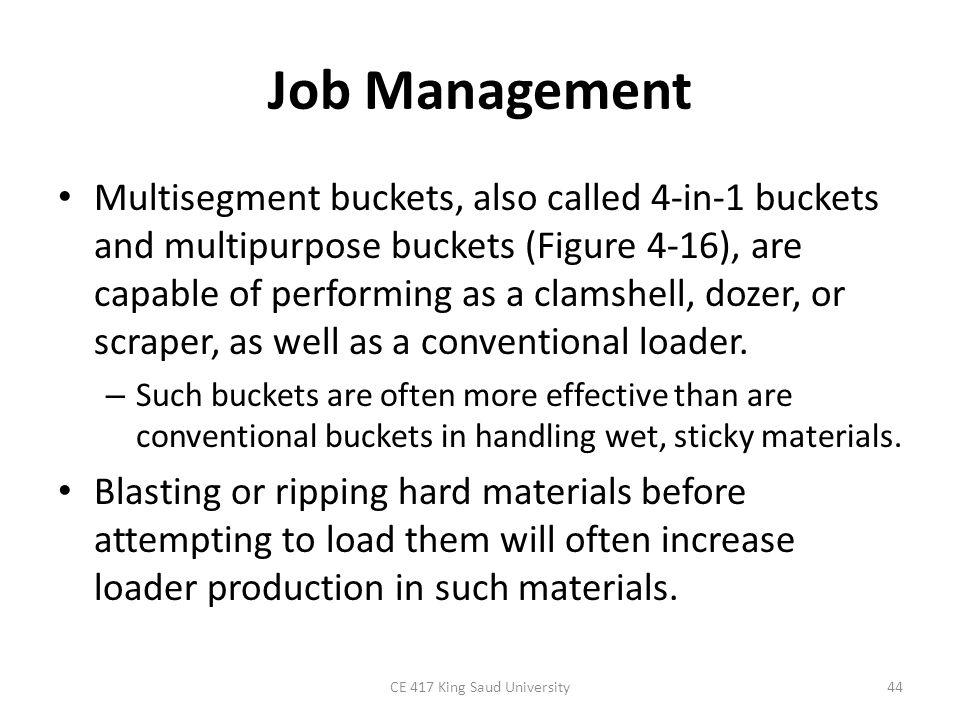 CE 417 King Saud University45 Figure 4-16: Multisegment loader bucket.