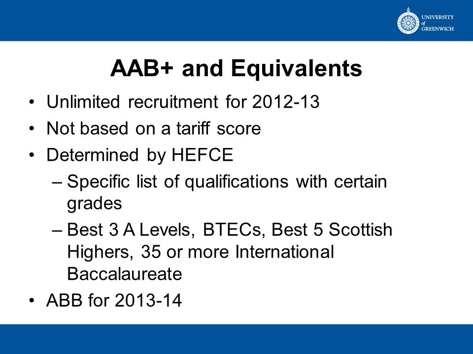 Tariff Tariffable Qualifications –Generally Level 3 –Not all level 3 have tariff scores UCAS determine tariff scores –Currently based solely on GLH