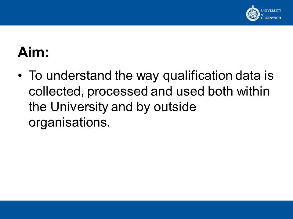 Qualification Levels 1.GCSE grades G - D 2.GCSE grades A* - C 3.A Levels, BTECs, International Baccalaureate etc.