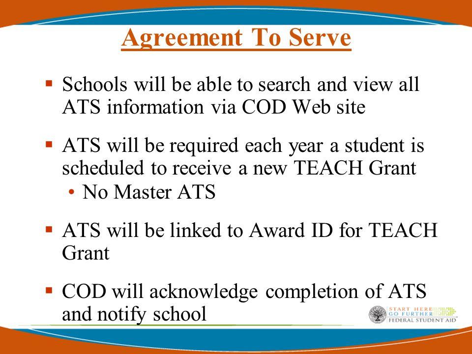 TEACH Grant Processing