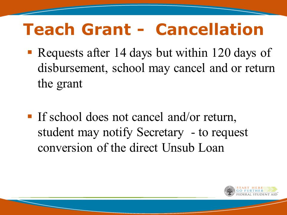 Teach Grants Frequency of Payments  Within Payment Periods Installments that best meets the student's need  Prior Payment Periods Lump sum for all prior periods of eligibility o Signed ATS must be on file