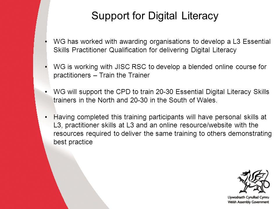 Next Steps Digital Literacy Design Principles published on Qualifications Wales website.