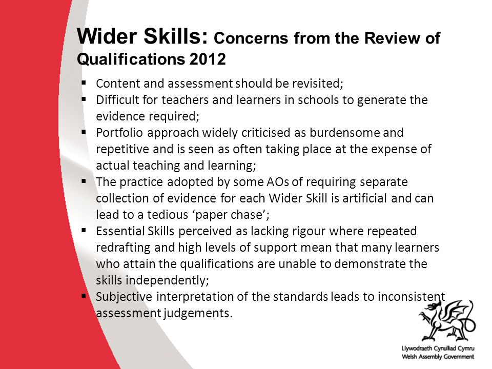 Recommendations of the RoQ that relate particularly to Wider Key Skills Wider Key Skills (RoQ, 2012, p.