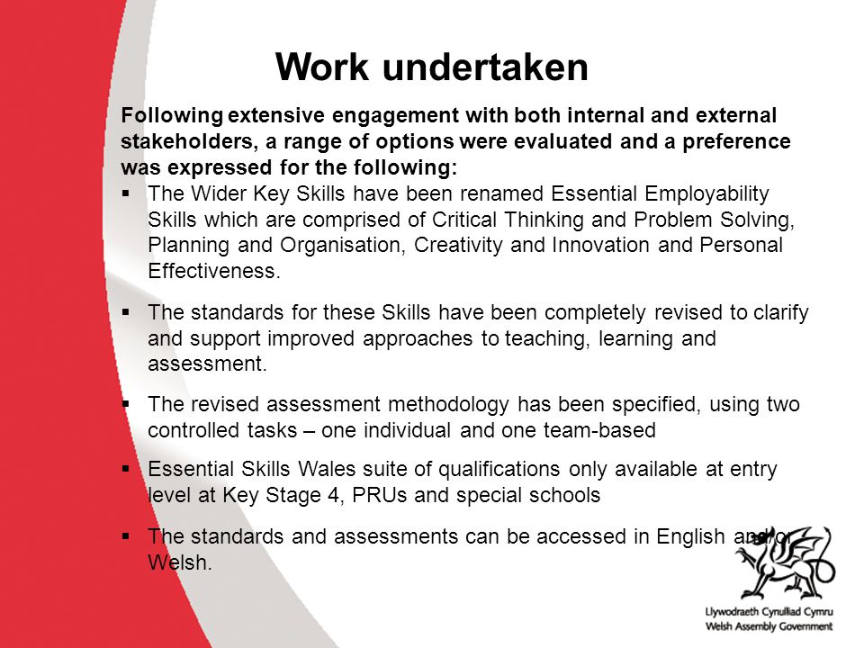 Essential Skills All of the Essential Skills will be developed in a variety of ways across the curriculum and throughout learning and life.
