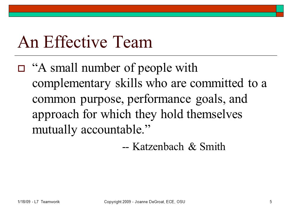 Teamwork perspective  In the past Mostly worked by yourself – typically part of a group and group had tasks to accomplish.