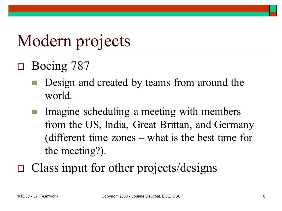 Team writing  When working on a project as a group, the group produces the report.