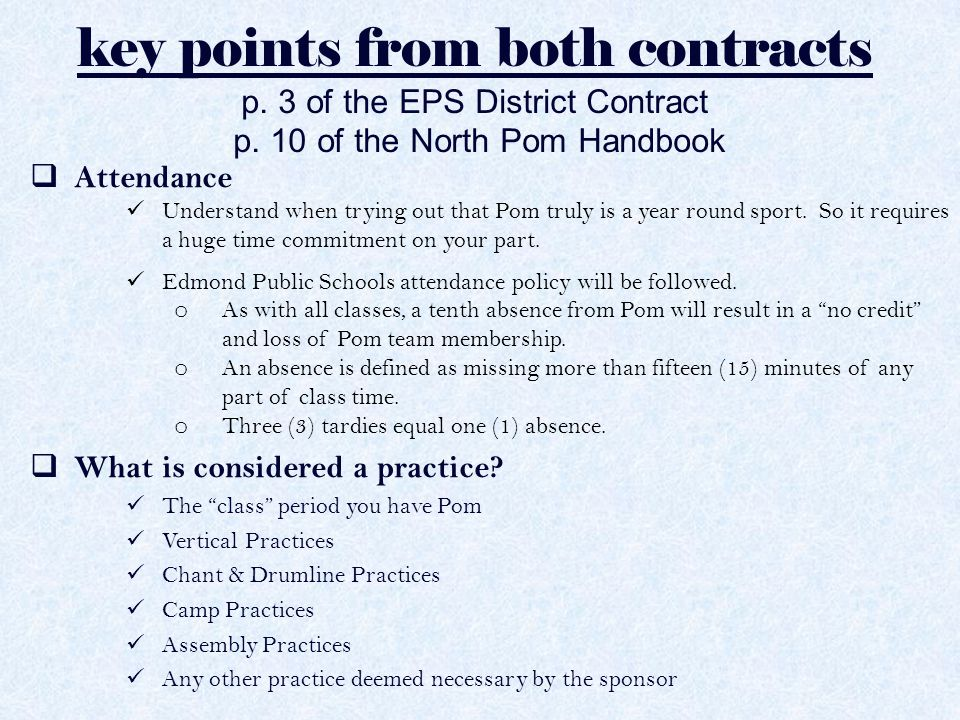 key points from both contracts  What is considered a game or event.