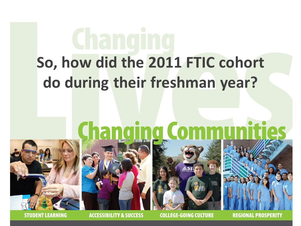 80% of the 2011 FTIC cohort returned during in the spring term