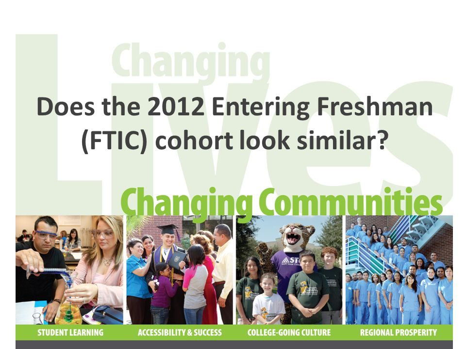 76% of the 2012 FTIC cohort are recent high school graduates