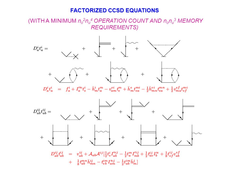 RECURSIVELY GENERATED INTERMEDIATES Matrix elements of the similarity transformed Hamiltonian serve as natural intermediates …