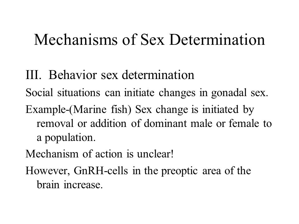 Hermaphroditism in Fish c.Three forms of hermaphroditism in fish 1.