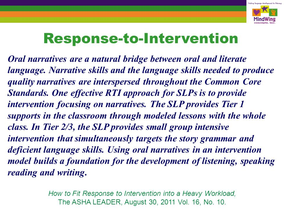 Story-based Intervention was cited as one of eleven established treatments for Autism: the only non-behavioral intervention cited.