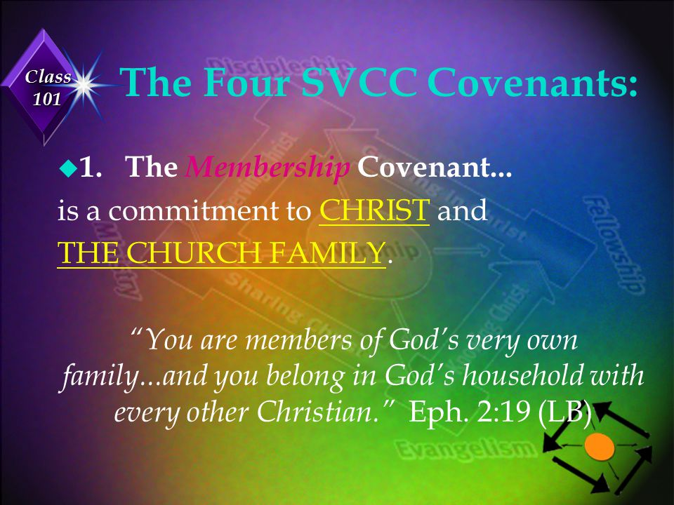 Class 101 The Four SVCC Covenants: u 2.The Maturity Covenant… is a commitment to the HABITS necessary for spiritual growth.