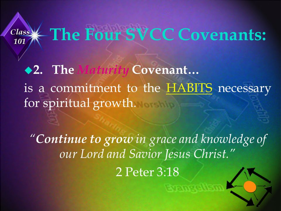 Class 101 The Four SVCC Covenants: u 3.The Ministry Covenant...
