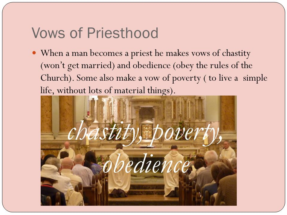 Bishops Some priests become Bishops.Bishops oversee a diocese, which are made up of many parishes.