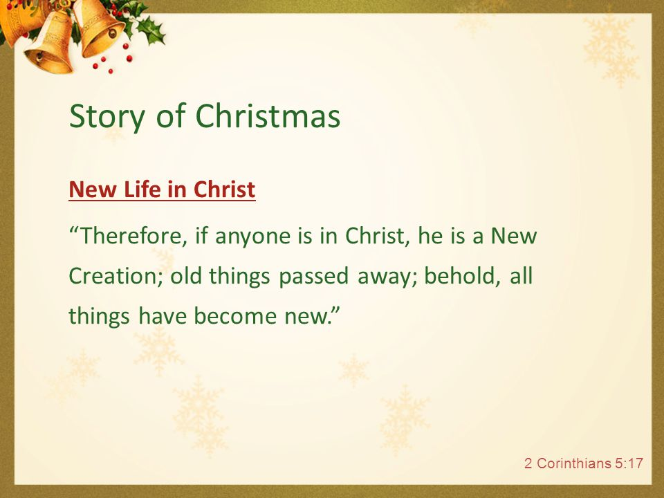 Celebrate Christmas by inviting Jesus in to your heart.