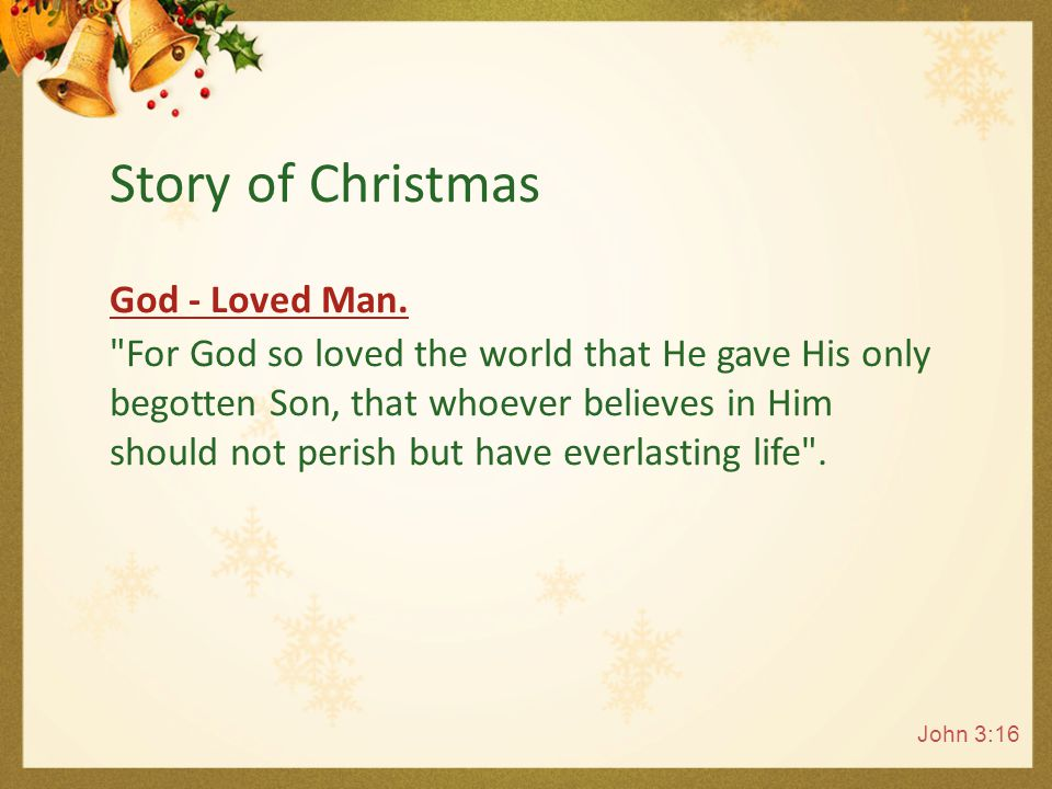 Jesus - Born to Save us from Sin And she will bring forth a Son, and you shall call His name JESUS, for He will save His people from their sins. Mathew 1:21 Story of Christmas