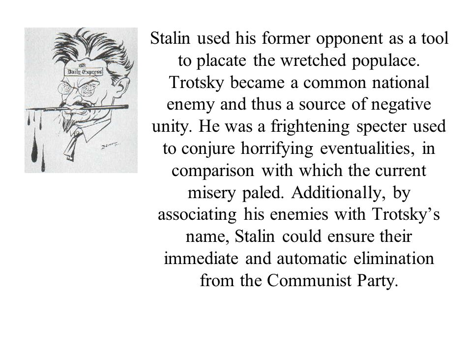 These and many other developments in Soviet history before 1945 have direct parallels in Animal Farm: Napoleon ousts Snowball from the farm and, after the windmill collapses, uses Snowball in his purges just as Stalin used Trotsky.