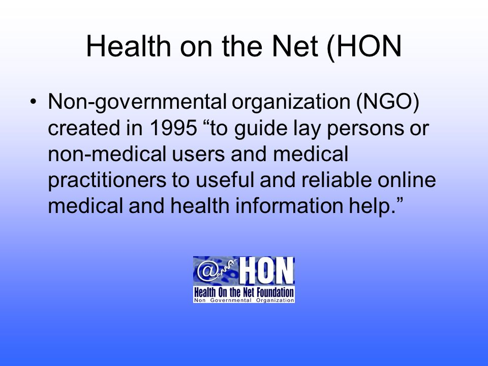 HON Certification A certified HON Website can display the HON Logo.