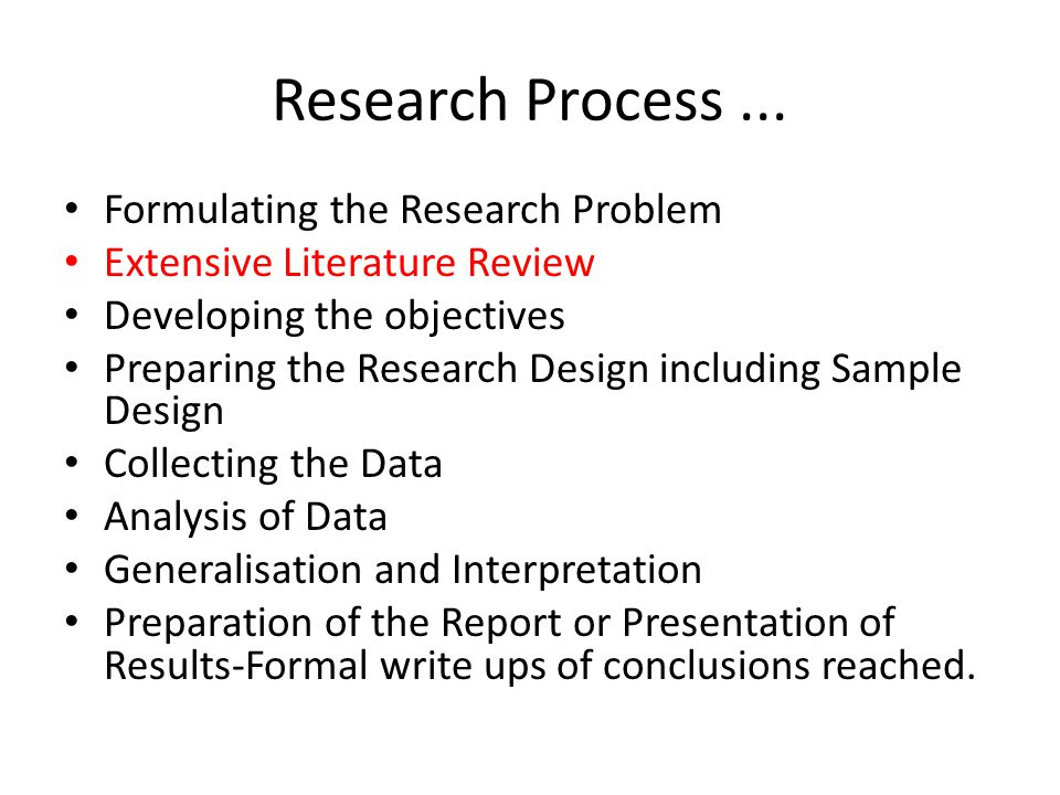 Literature Review Ensures that you are not reinventing the wheel .