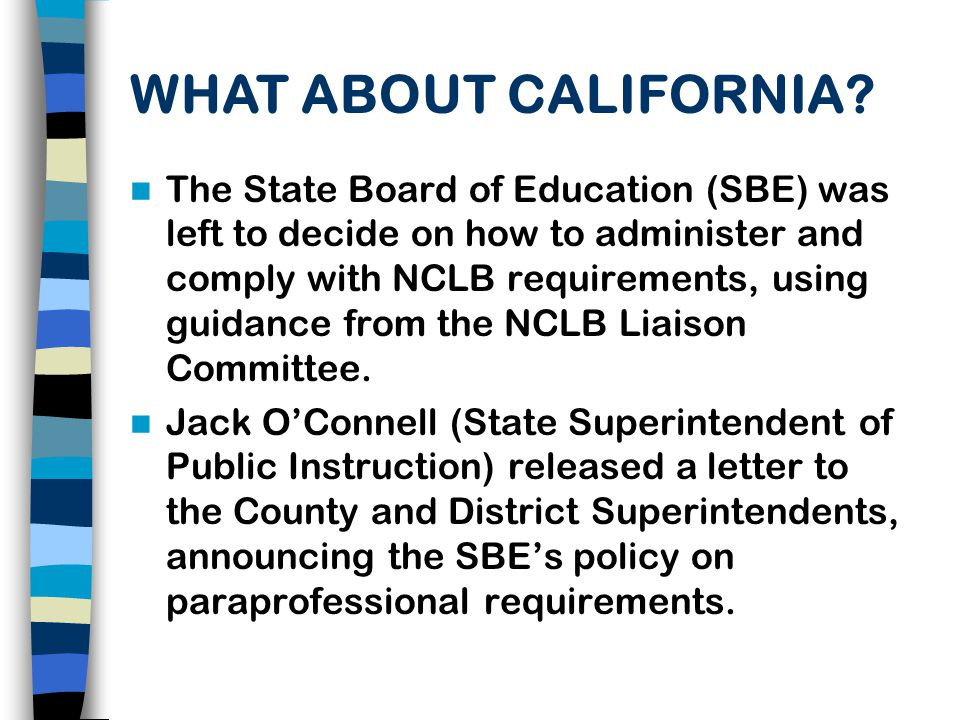IS THE CDE PLANNING TO DEVELOP OR SELECT ONE STATEWIDE ASSESSMENT, OR TO POST A LIST OF ACCEPTABLE ASSESSMENTS FOR THE NCLB PARAPROFESSIONAL REQUIREMENTS.