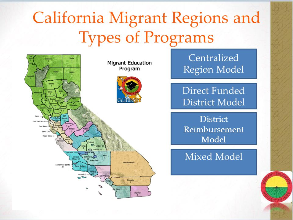 Ensure that programs are supplemental The office of Migrant Education indicates that SEAs use a wide variety of service delivery designs including: Extended day programs, before/after school programs, Saturday programs, In-home instruction, summer/intersession programs, and distance learning programs.