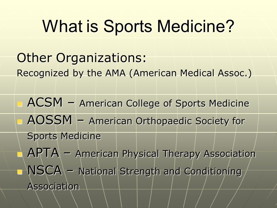 Athletic Training job market Job Market – - Secondary Schools - College/Universities - Olympic sports – winter & Summer - Professional sports -Football, Basketball, Baseball, Hockey, Soccer -NASCAR, X Games, -Golf, Tennis, Rodeo - Clinics -PT and Physician extenders - Industrial/corporate settings - Military - Department of Homeland Security - Performing Arts