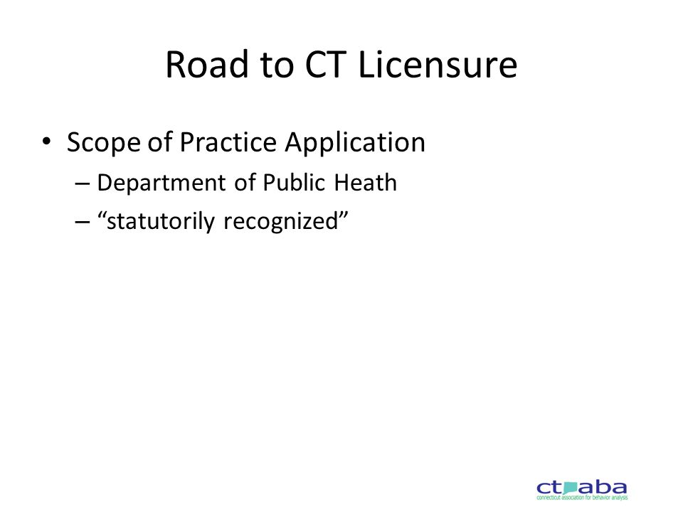 Road to CT Licensure Meetings with Connecticut Psychological Association – Edits to draft bill language