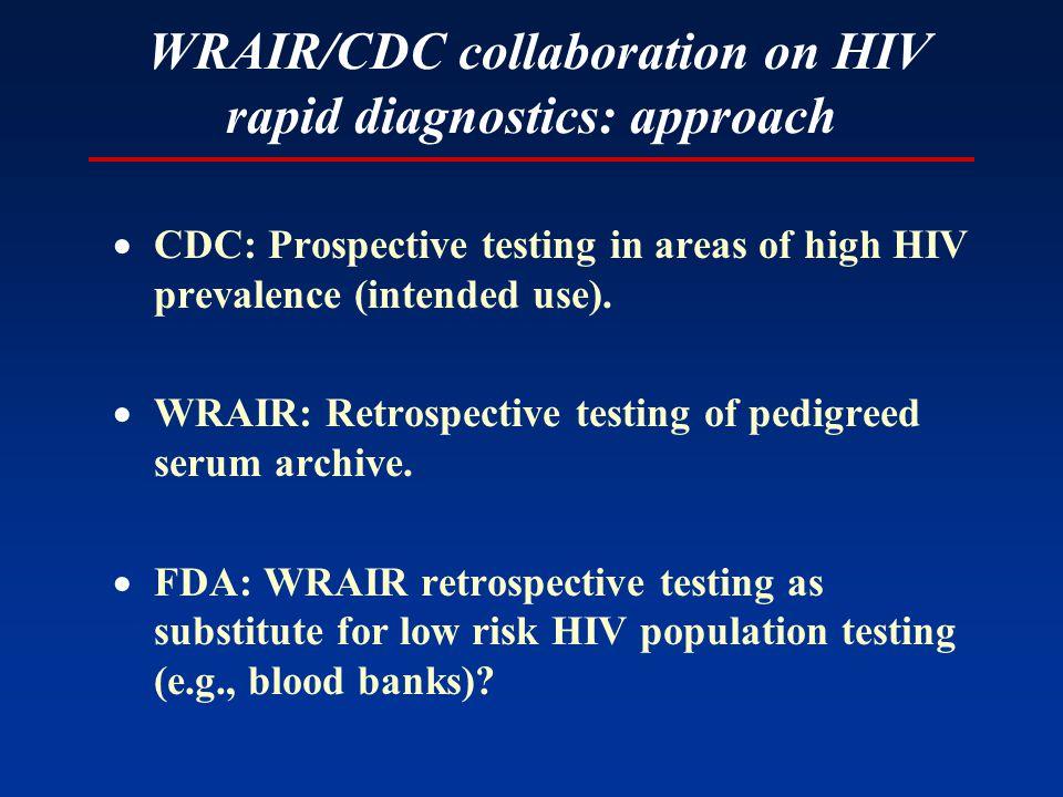Retrospective evaluation of rapid serum tests