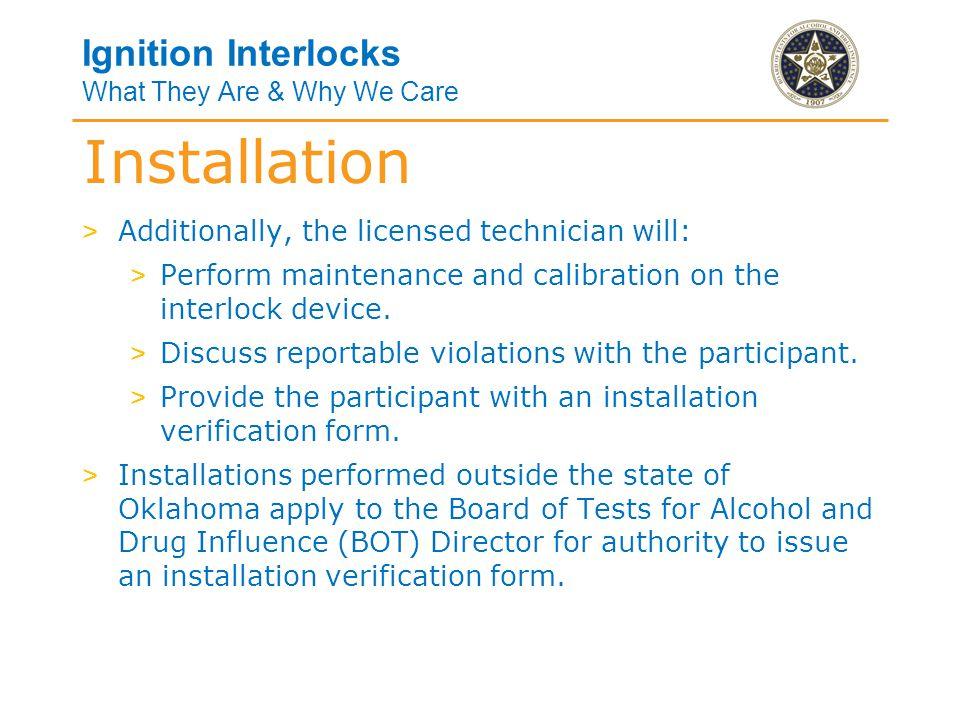 Installation Verification Form