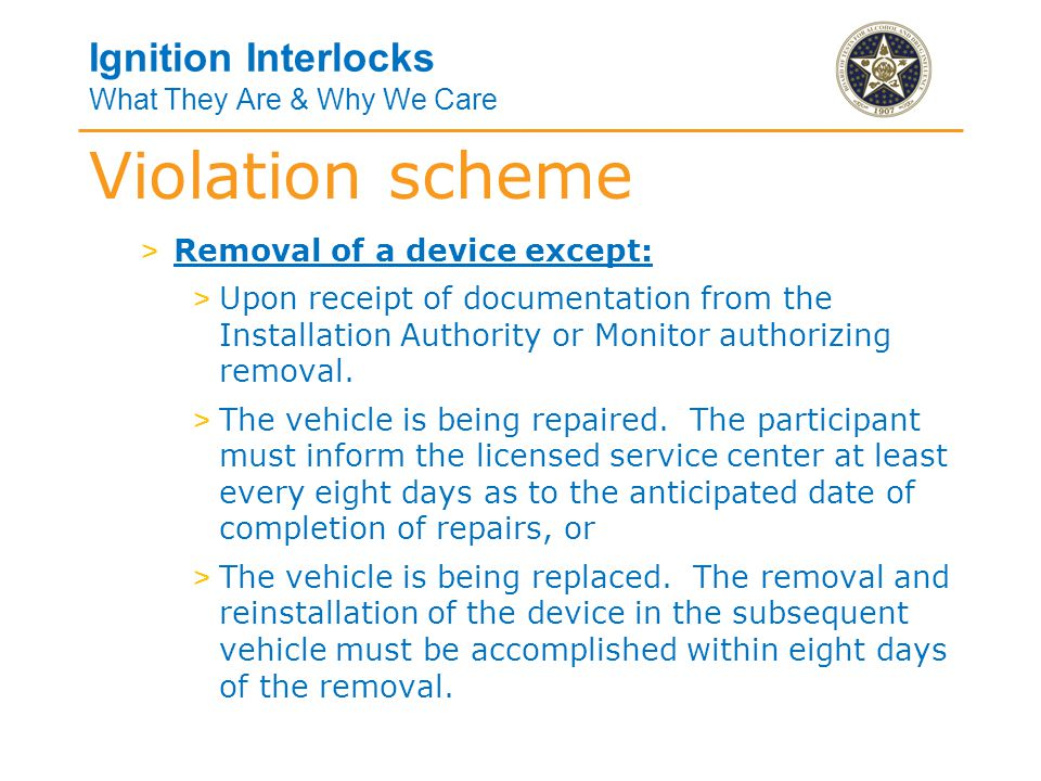 Ignition Interlocks What They Are & Why We Care > Tampering.