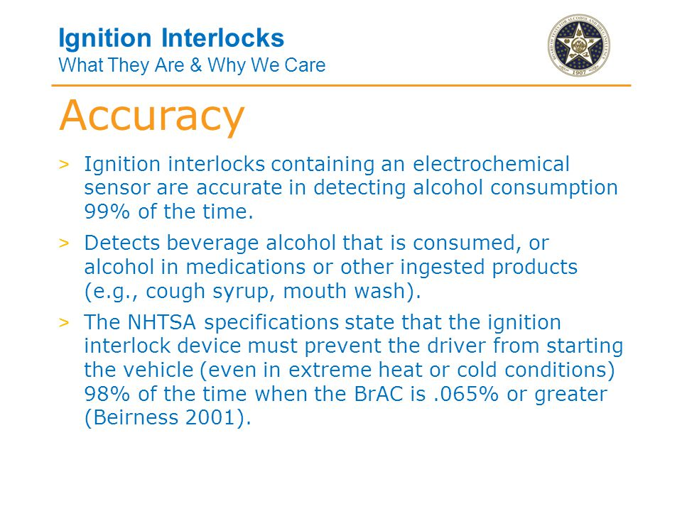 Ignition Interlocks What They Are & Why We Care > Mouth alcohol is residual alcohol that is present in the mouth or throat immediately following the consumption of food, drink, mouth spray or medicine that contains alcohol.