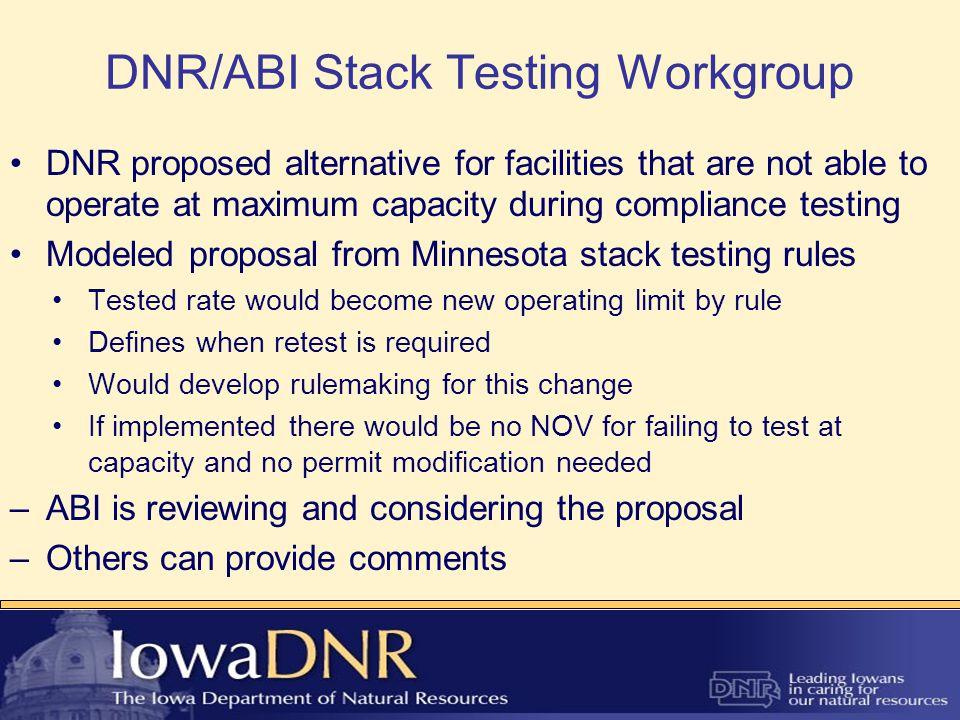 Contact Info Dennis Thielen Iowa DNR Air Quality Bureau Lead Worker Compliance and Stack Testing Dennis.Thielen@dnr.iowa.gov 515-725-7545