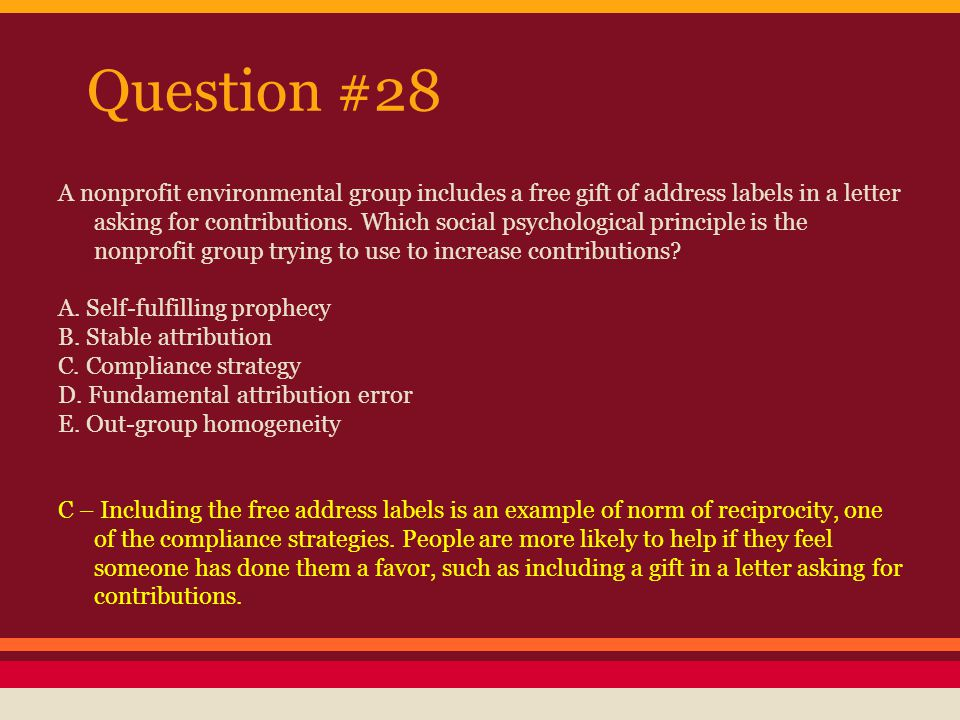 Question #29 What kinds of factors are ignored or de-emphasized when people commit the fundamental attribution error.